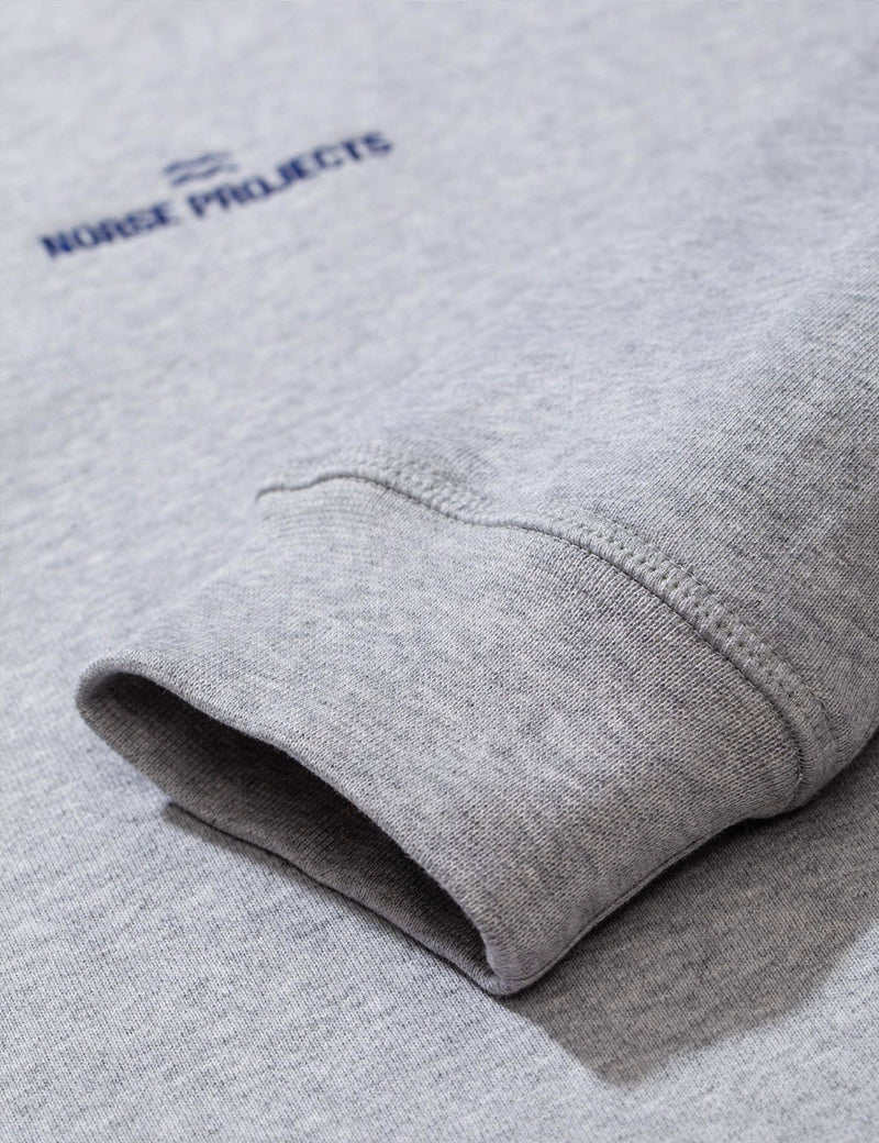 Norse Projects Ketel Norse Projects Wave Logo Sweatshirt - Light Grey Melange