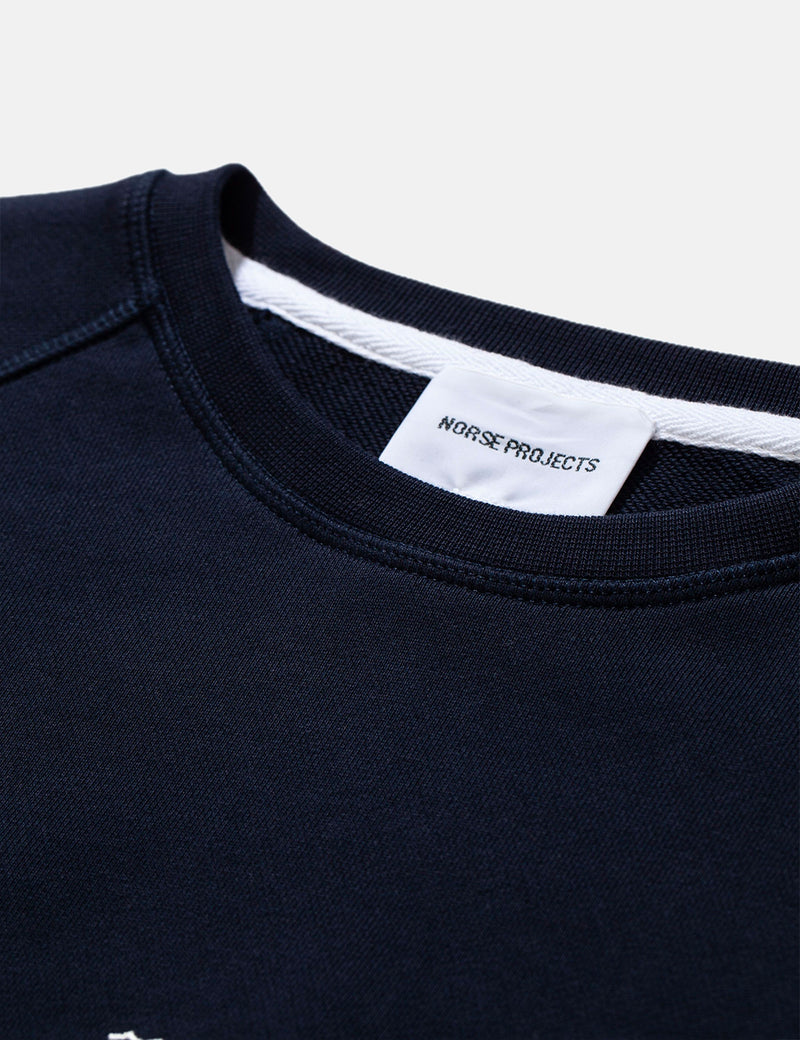 Norse Projects Ketel Norse Projects Wave Logo Sweatshirt - Dark Navy Blue