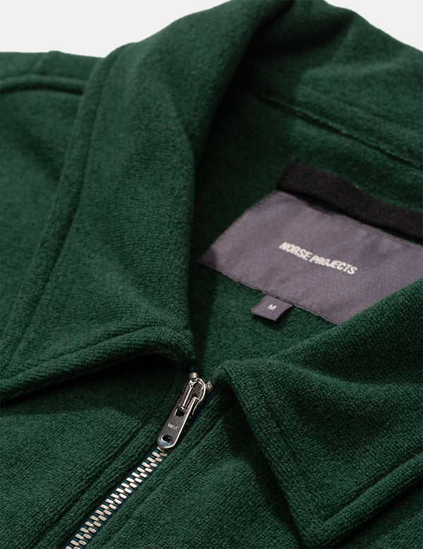 Norse Projects Jorn Fleece (Half Zip) - Dartmouth Green