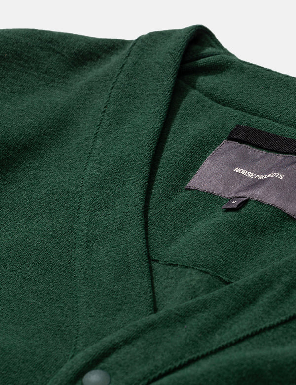 Norse Projects Vidar Fleece Jacket - Dartmouth Green