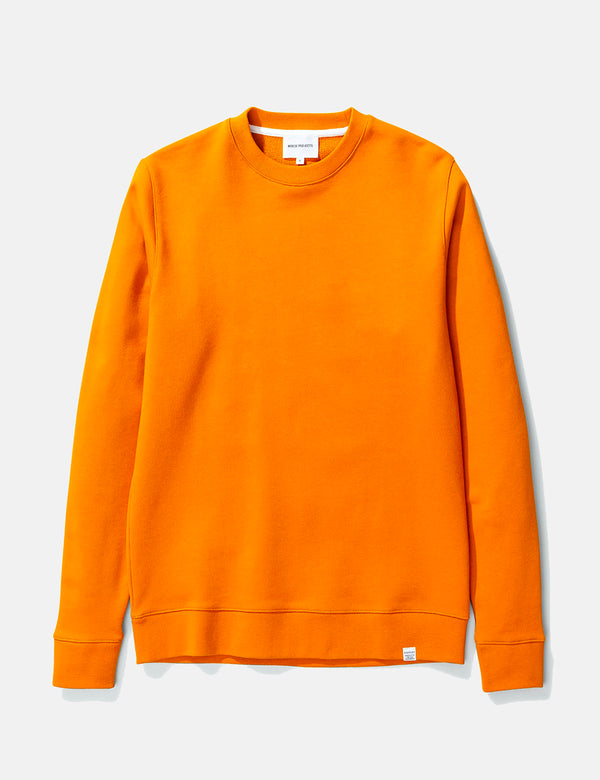 Norse Projects Vagn Classic Sweatshirt - Cadmium Orange