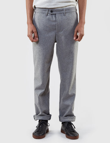 Norse Projects Thomas Light Wool Trousers (Slim) - Light Grey Melange