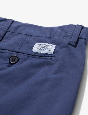Norse Projects Aros Light Twill Chino (Slim) - Navy Blue