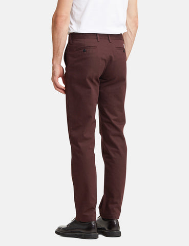 Norse Projects Aros Heavy Chino (Regular) - Eggplant Brown