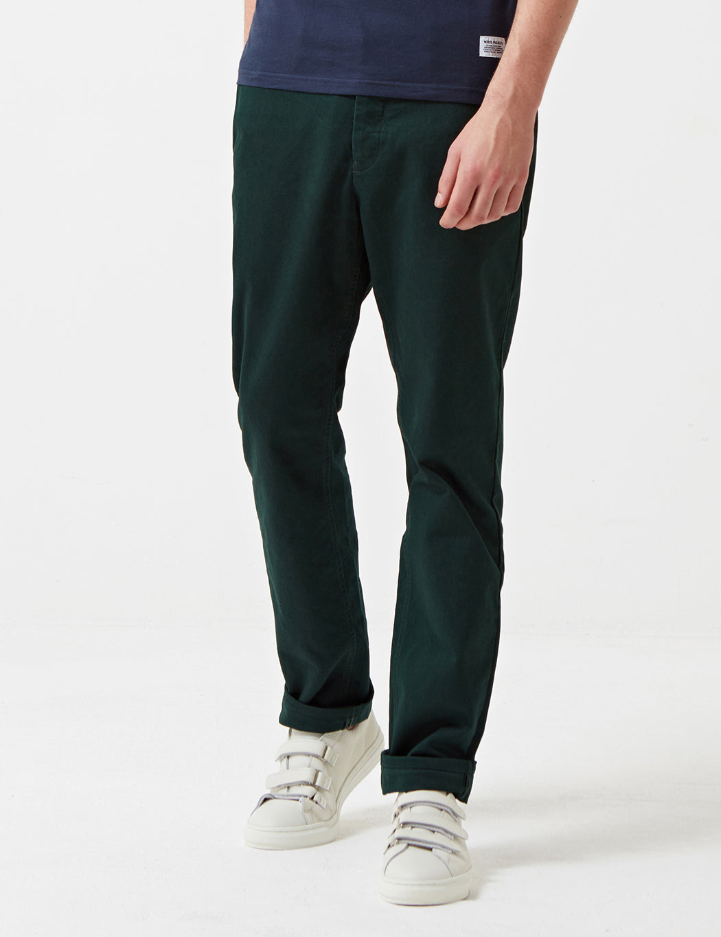 Norse Projects Aros Heavy Chino (Regular) - Moss Green