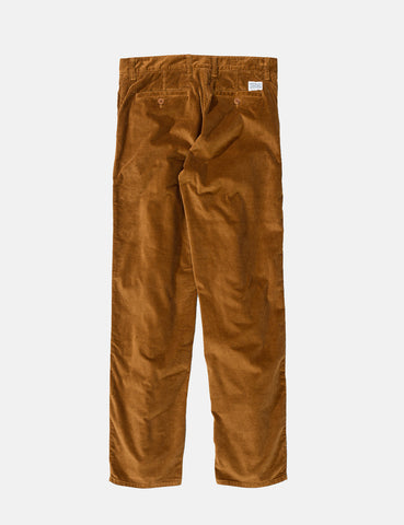 Norse Projects Aros Trousers (Corduroy) - Russet Brown