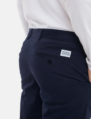 Norse Projects Aros Light Stretch Chino (Slim) - Dark Navy Blue