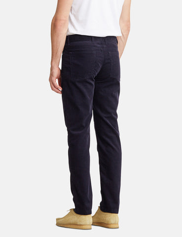 Norse Projects Edvard Light Corduroy Chino - Dark Navy