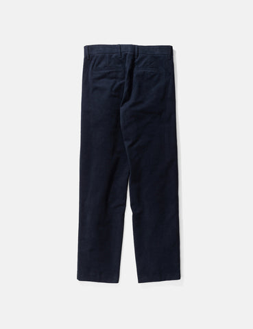 Norse Projects Haga Brushed Moleskin Pant - Dark Navy Blue
