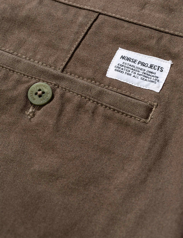 Norse Projects Aros Regular Pants (Light Stretch) - Efeugrün