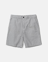 Norse Projects Aros Seersucker Shorts - Navy Stripe