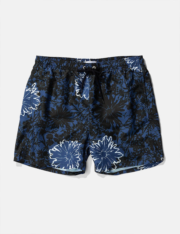 Norse Projects Hauge Flower Print Swim Shorts - Twilight Blue