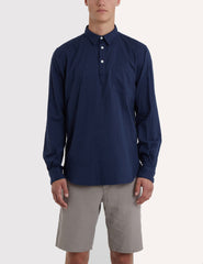 Norse Projects Osvald Double Layer Shirt - Navy Blue