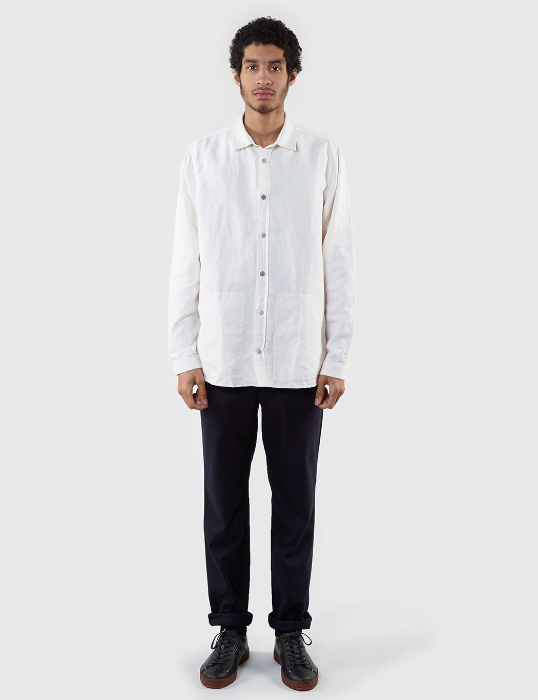 Norse Projects Jens Cotton Linen Broken Shirt - Ecru