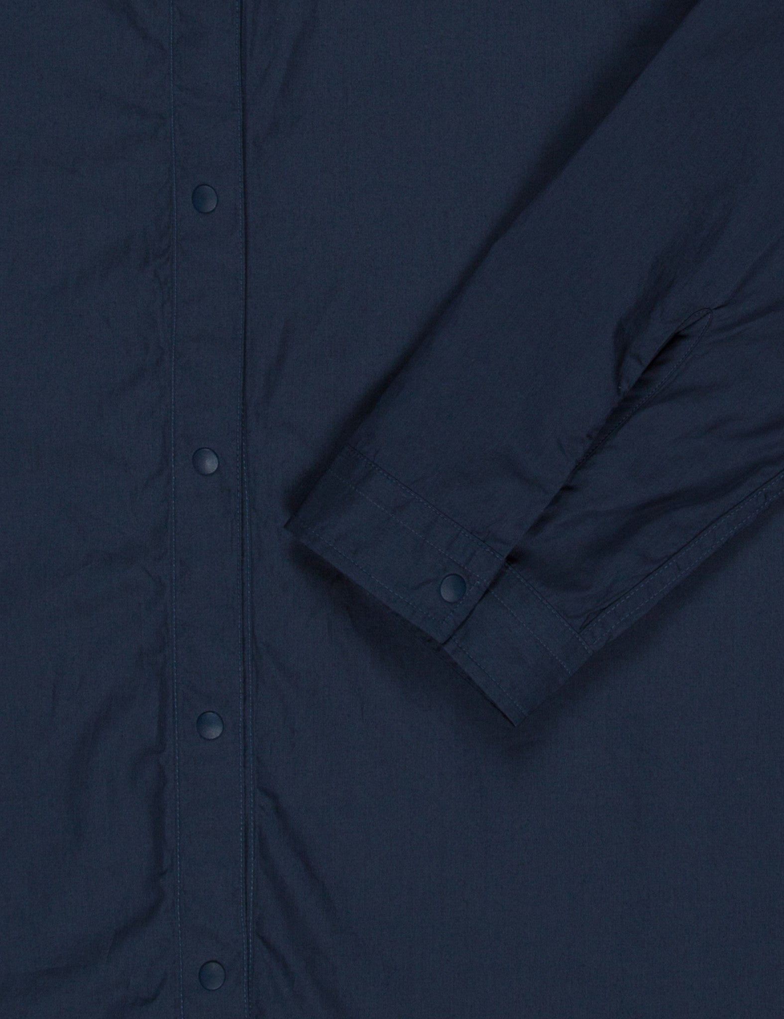 Norse Projects Bertil Baseball Shirt (Poplin)  - Navy Blue