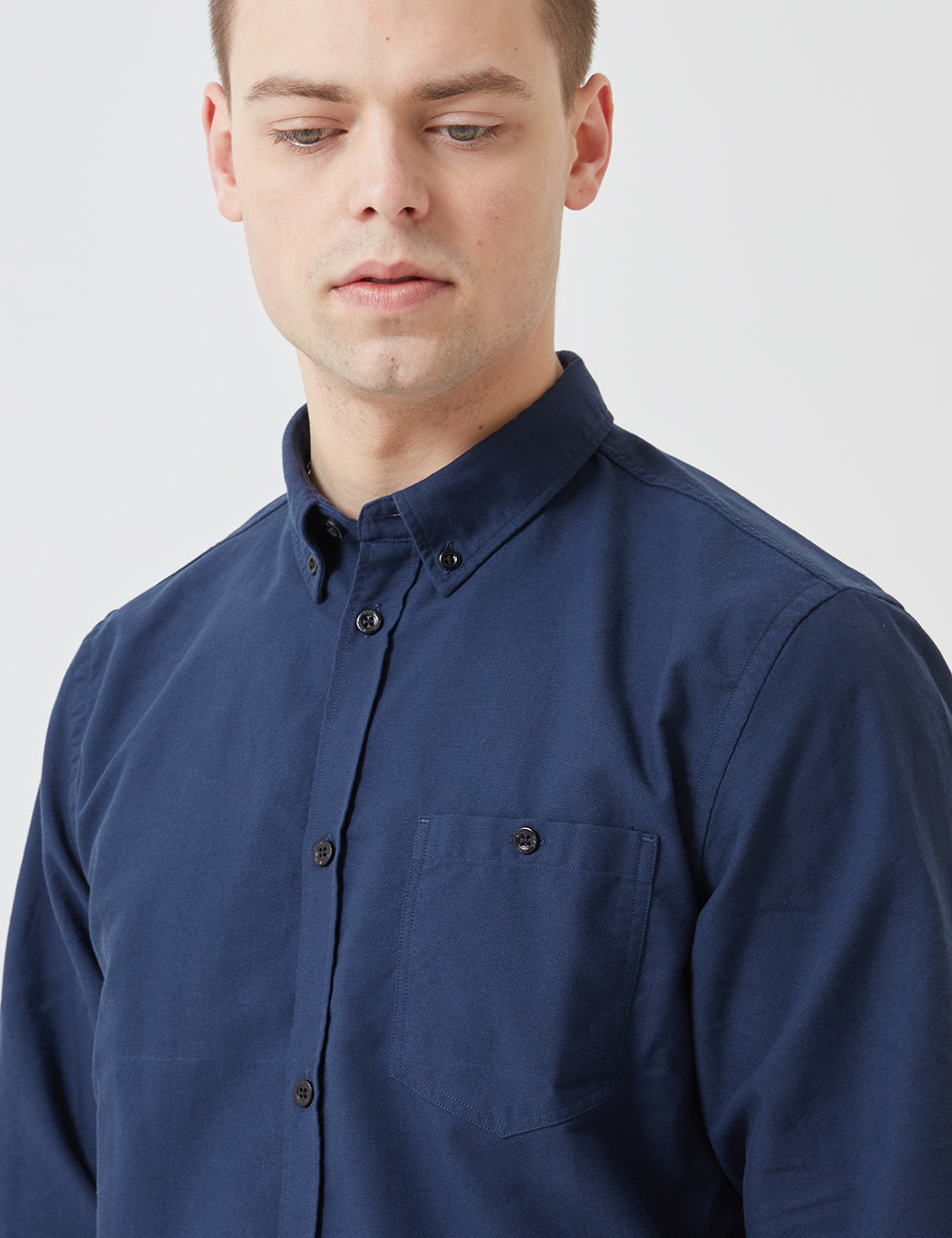 Norse Projects Anton Oxford Shirt - Dark Navy Blue