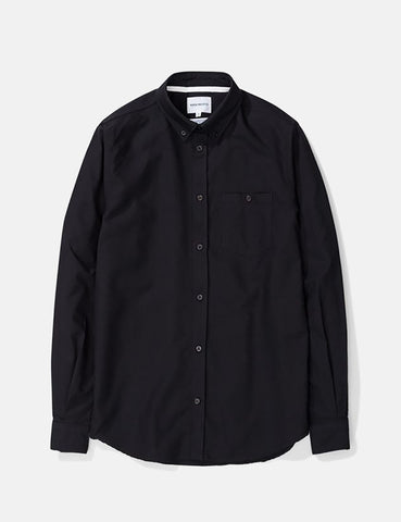 Norse Projects Anton Oxford Shirt (Black Buttons) - Black