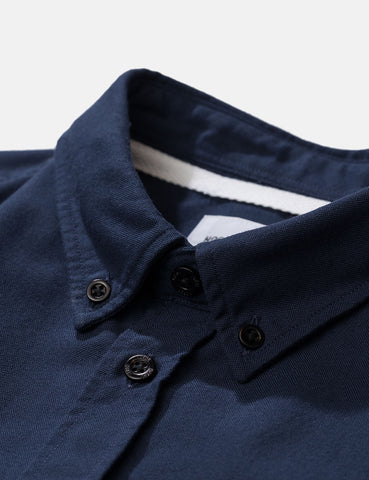 Norse Projects Anton Oxford Shirt (Black Buttons) - Dark Navy Blue