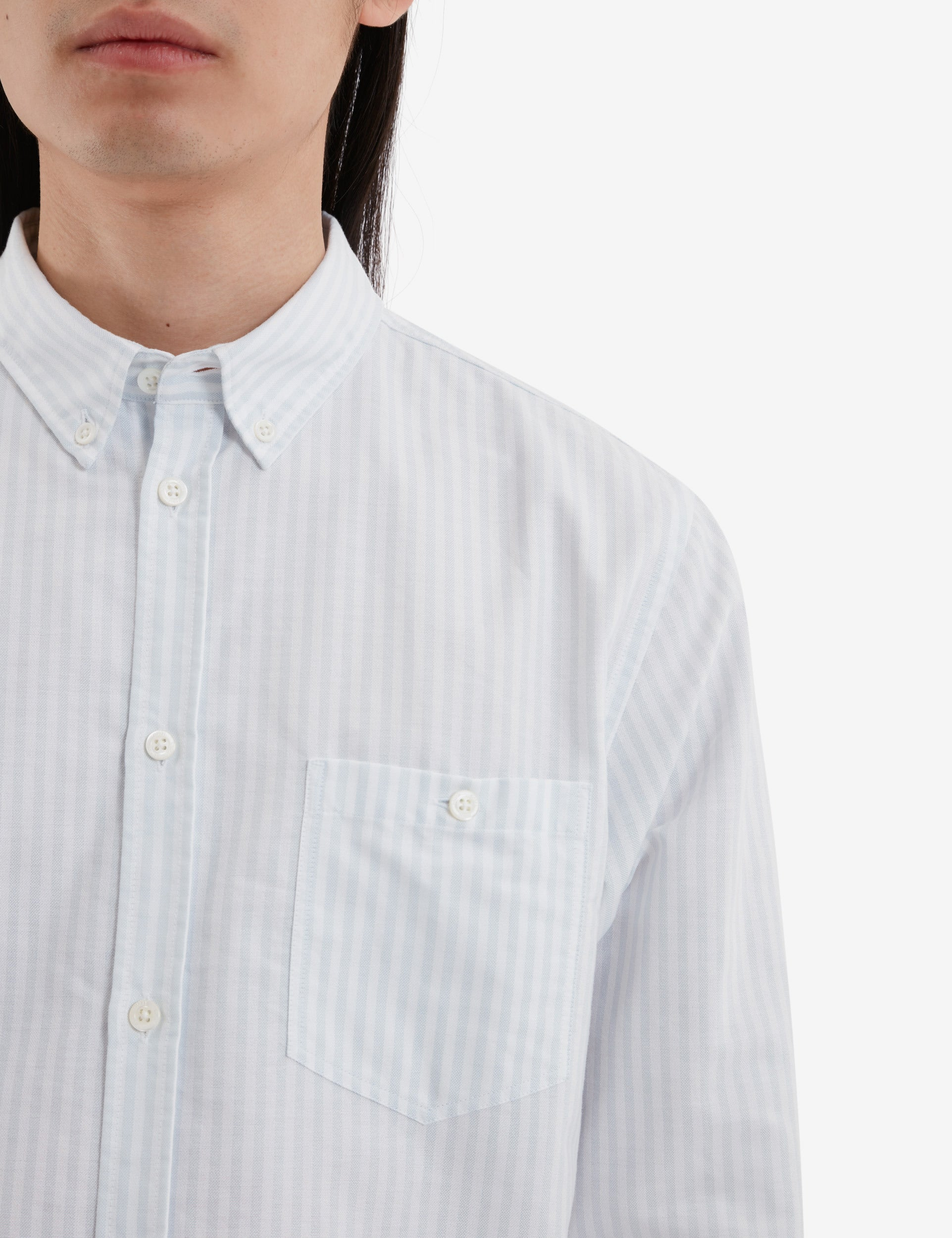 Norse Projects Anton Oxford Stripe Shirt - Pale Blue