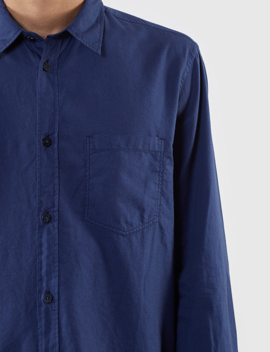Norse Projects Anton Light Oxford Shirt (Overdyed) - Navy Blue