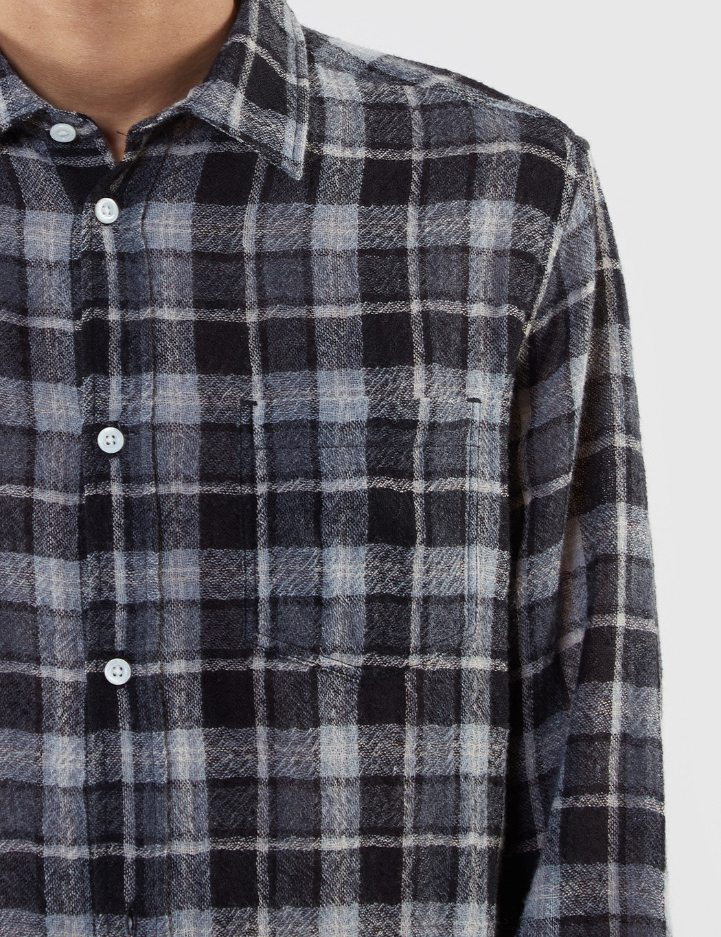 Norse Projects Anton Loose Weave Gauze Shirt - Grey