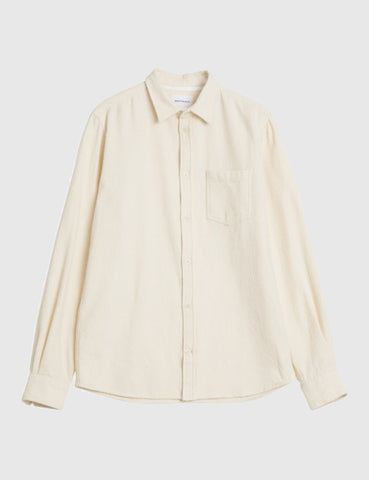 Norse Projects Anton Texture Shirt - Ecru
