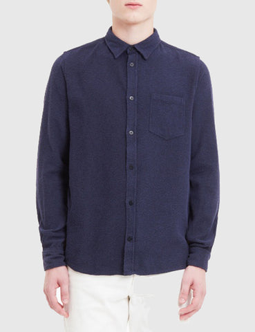 Norse Projects Anton Texture Shirt - Dark Navy