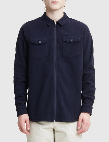 Norse Projects Jens Fleece Jacket - Dark Indigo