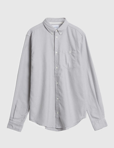 Norse Projects Osvald Brushed Flannel Shirt - Light Grey