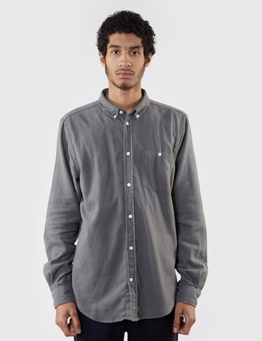 Norse Projects Osvald Brushed Flannel Shirt - Dried Olive