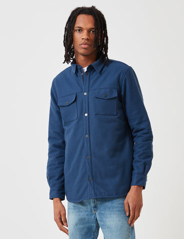 Norse Projects Villads Melton Shirt - Navy
