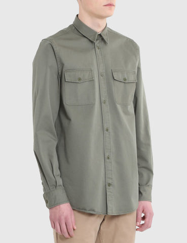 Norse Projects Villads Twill Shirt - Dried Olive