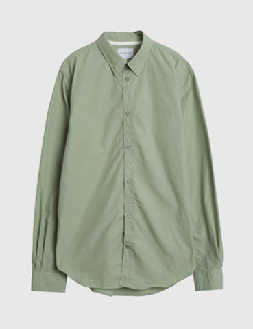 Norse Projects Osvald Poplin Shirt - Perimeter Green