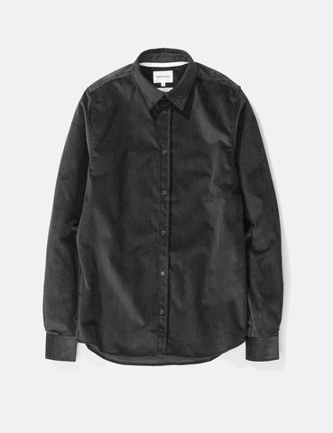 Norse Projects Hans Shirt (Corduroy) - Mouse Grey