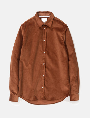 Norse Projects Hans Shirt (Corduroy) - Zircon Brown