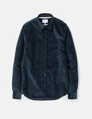 Norse Projects Hans Shirt (Corduroy) - Petrol Blue