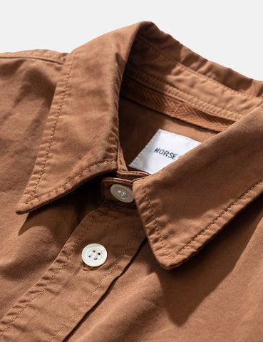 Norse Projects Villads Light Twill Overshirt - Duck Brown
