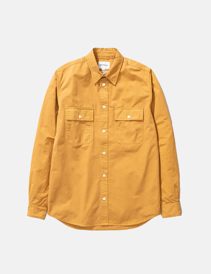 Norse Projects Villads Light Twill Overshirt - Montpellier Yellow