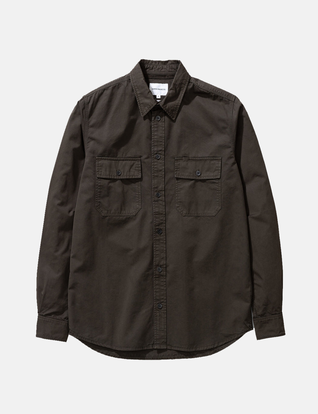 Norse Projects Villads Light Twill Overshirt - Green | URBAN EXCESS.