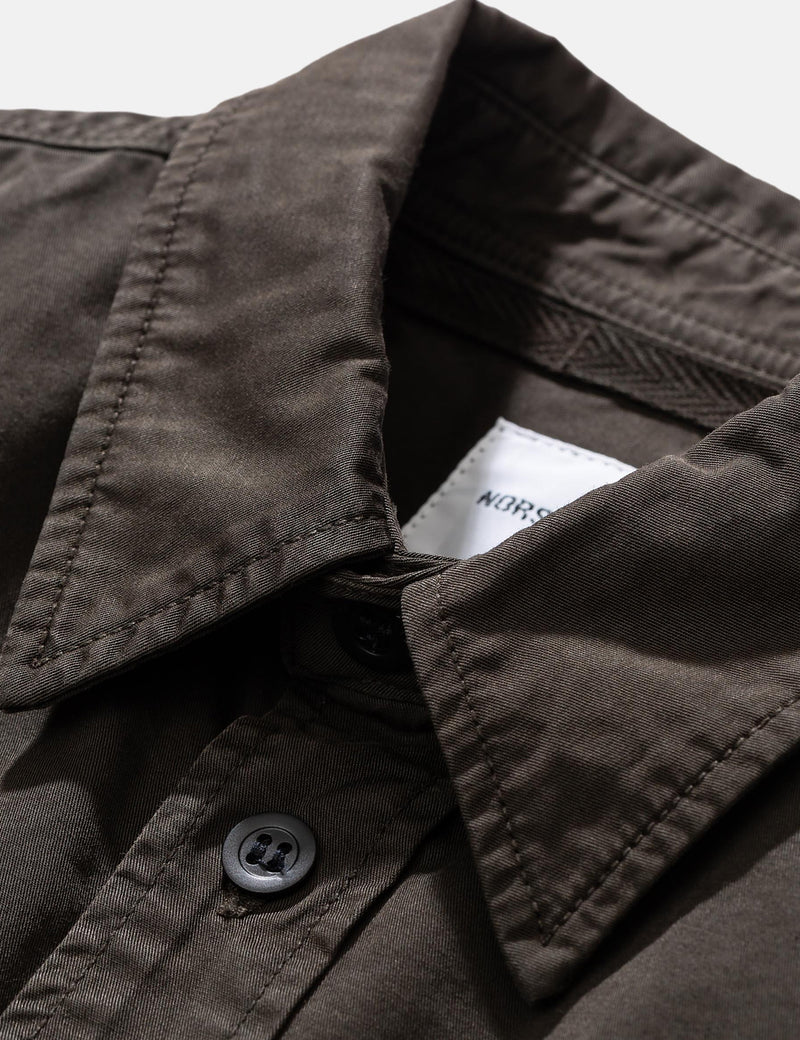 Norse Projects Villads Light Twill Overshirt - Beech Green