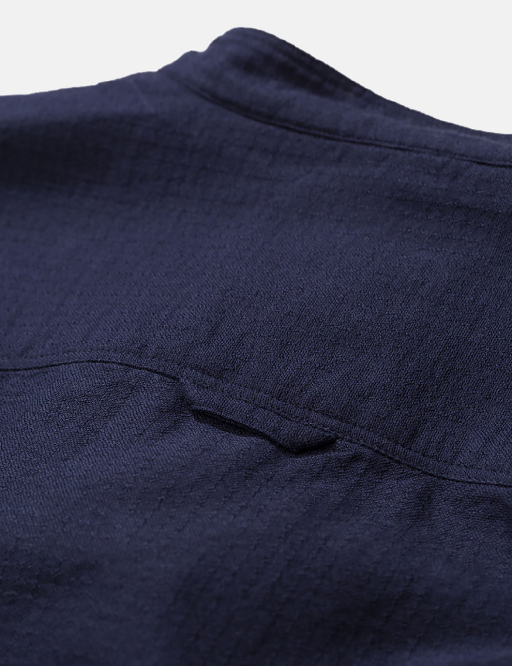 Norse Projects Hans Grandad Ripstop Shirt - Dark Navy Blue