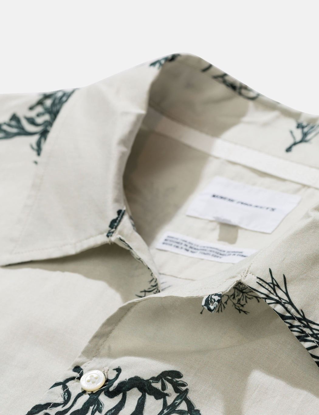 Norse Projects Carsten Print Shirt - Kit White