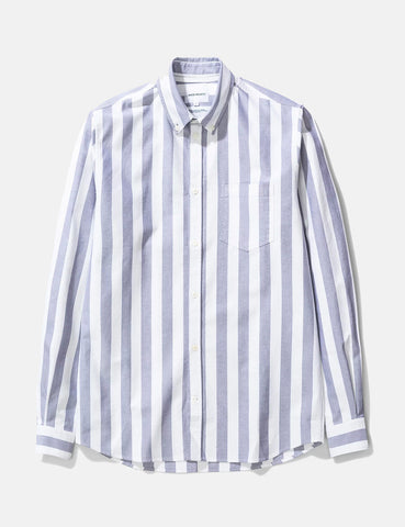 Norse Projects Anton Oxford Shirt (Wide Stripe) - Navy Blue