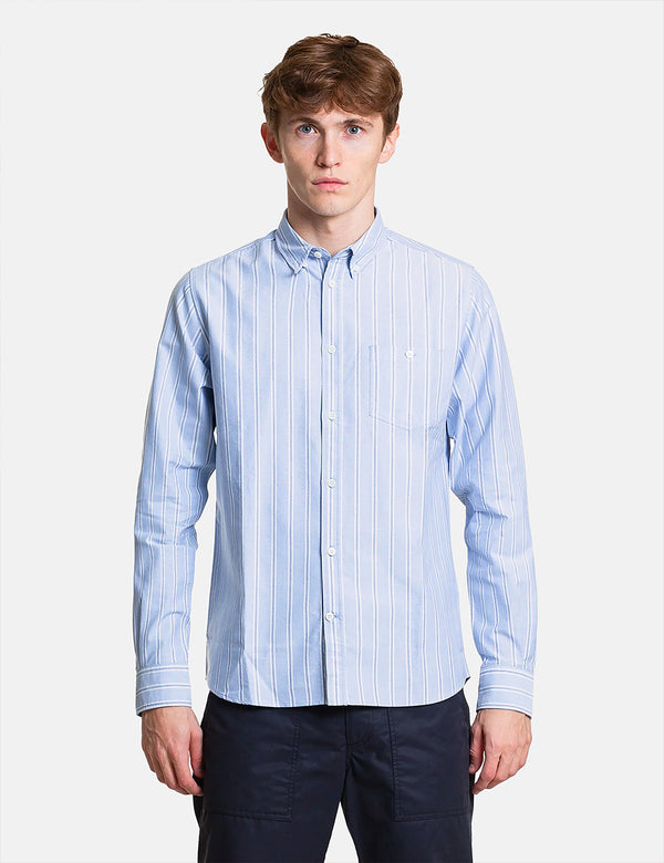 Norse Projects Anton Oxford Shirt (Multi Stripe) - Pale Blue