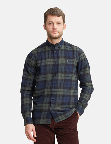 Norse Projects Anton Flannel Check Shirt - Black Watch Check