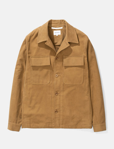 Norse Projects Kyle Moleskin Jacket - Camel