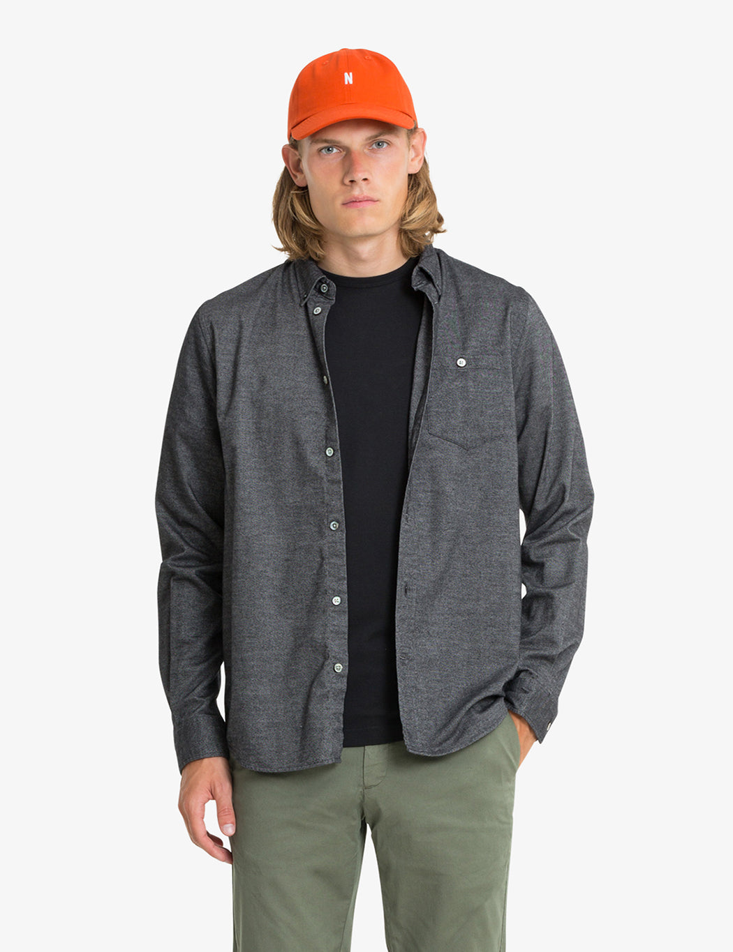 c905c42ce8a Norse Projects Anton Brushed Flannel Shirt - Magnet Grey | URBAN EXCESS.