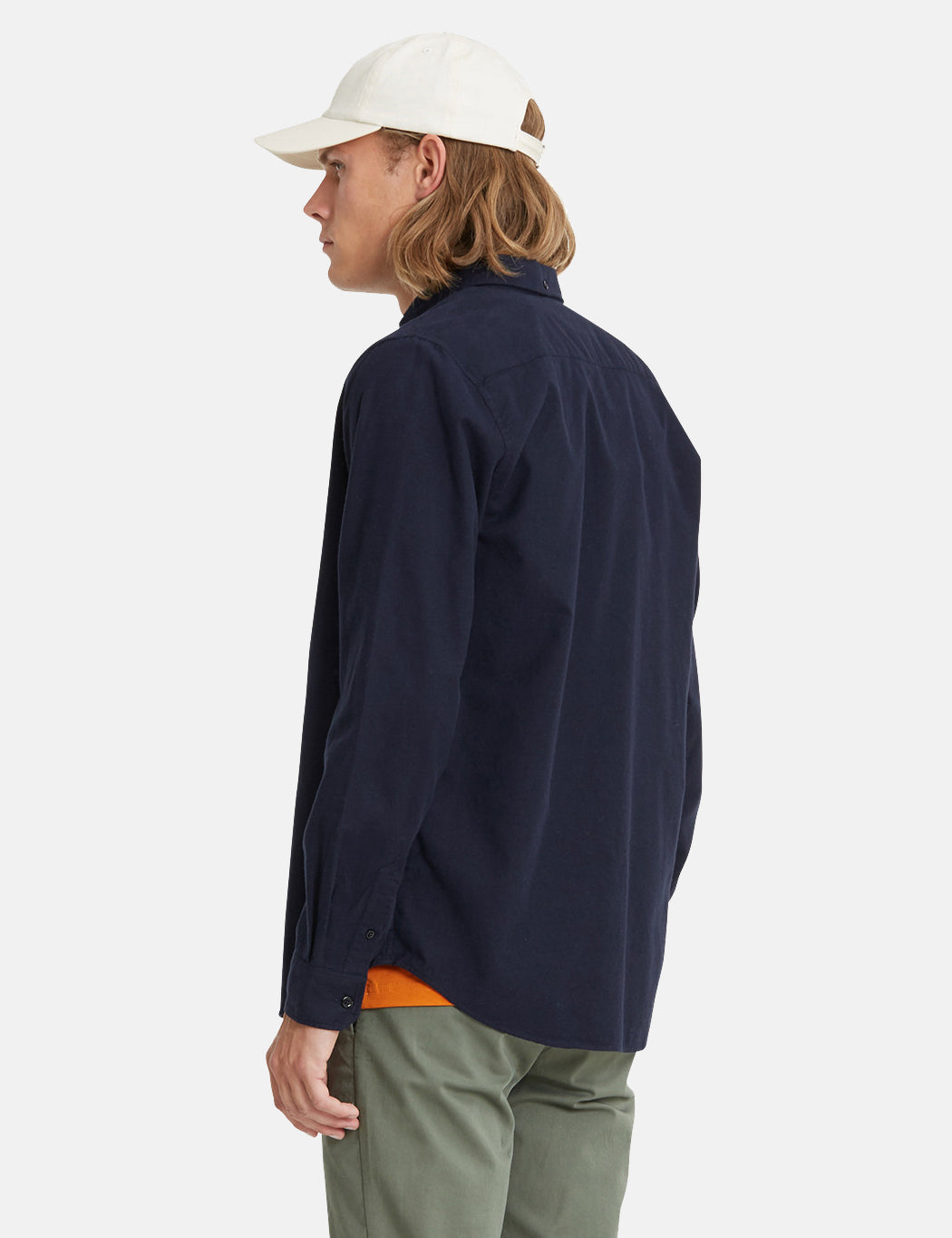 68a03c20e ... Norse Projects Anton Brushed Flannel Shirt - Dark Navy