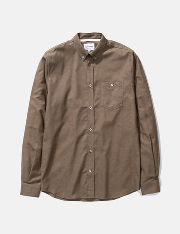 Norse Projects Anton Brushed Flannel Shirt - Beech Green