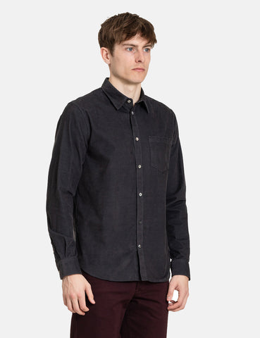 Norse Projects Osvald Corduroy Shirt - Slate Grey